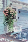 Back Porch Paintings - Morning Shadows by Laura Lee Zanghetti