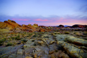 Valley Of Fire Prints - Morning Sky Print by Stephen Campbell