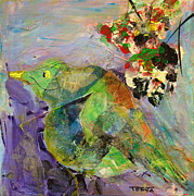 Yellow Beak Painting Metal Prints - Morning Song 1 Metal Print by Tonya Schultz