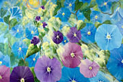 Morning Glories Paintings - Morning Stars by Linda Rauch