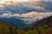 Great Smoky Mountains Prints - Morning Storm Print by Donna Eaton
