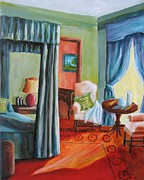 Interior Morning Paintings - Morning Sun by Melody Horton Karandjeff