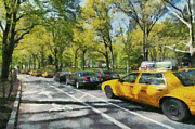 Car Paintings - Morning traffic through Central Park by George Atsametakis
