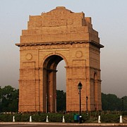 Entrance Memorial Photography Photos - Morning Walk At India Gate by Naveesh Goyal