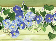 Morning Glories Paintings - Mornings Glory by Marsha Elliott