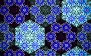 Moroccan Digital Art Posters - Moroccan Blue Poster by Patricia Routh