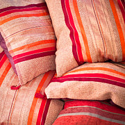 Moroccan Photos - Moroccan cushions by Tom Gowanlock