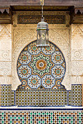 Tiles Framed Prints - Moroccan fountain Framed Print by Tom Gowanlock