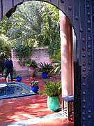 Majorelle Garden Prints - Morocco Marrakesh Majorelle Garden 05 Print by Yvonne Ayoub