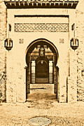 Moroccan Digital Art Posters - Morocco Pavilion Doorway Lamps Courtyard Fountain EPCOT Walt Disney World Prints Rustic Poster by Shawn OBrien
