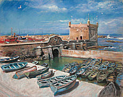 Sea Shore Pastels Prints - Morocco Print by Ylli Haruni
