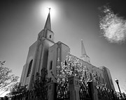 Lds Art - Moronis Light - Brigham City Temple LDS by Jim Speth