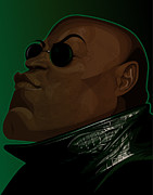 Fishburne Framed Prints - Morpheus Framed Print by Kevin Greene
