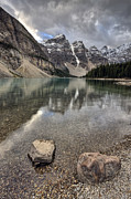 Turquoise Mountain Lake Prints - Morraine Lake Alberta Print by Mark Duffy