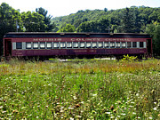 Old Caboose Photos - Morris County Central Train by Michelle Milano