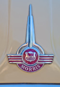 Car Mascots Framed Prints - Morris Hood Emblem Framed Print by Jill Reger