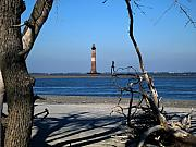 Lighthouses Usa - Morris Island Lighthouse Charleston SC by Susanne Van Hulst