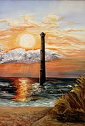 Graves Paintings - Morris Island Lighthouse by Lisa Graves