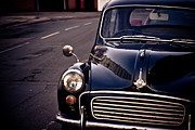 Blue Car Framed Prints - Morris Minor Framed Print by Justin Albrecht