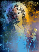 Jim Morrison Prints - Morrison Print by Paul Sachtleben