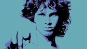 Jim Morrison Digital Art Posters - Morrison to My Doors Poster by Jera Sky