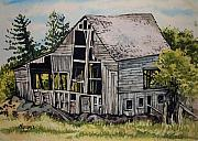 Old Barn Paintings - Morristown Barn NY by Lynne Haines