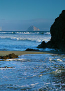 Pacific Ocean Prints Framed Prints - Morro Bay Shoreline II Framed Print by Steven Ainsworth