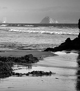 Pacific Ocean Prints Prints - Morro Bay Shoreline V Print by Steven Ainsworth