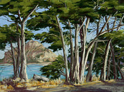 Famous Pastels - Morro Rock Vista by Patricia Rose Ford