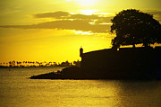 Puerto Rico Photo Prints - Morro Sunset Print by Mauricio Jimenez