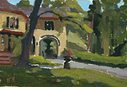 Historic Site Paintings - Morse House - Locust Grove by William Noonan
