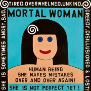 Outsider Art Paintings - Mortal Woman by MaryAnn Kikerpill