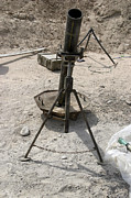 Artillery Photo Metal Prints - Mortar Tubes Metal Print by Stocktrek Images