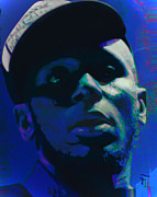 Pink Ears Prints - Mos Def Print by Byron Fli Walker