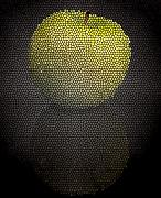 Andrew Digital Art Prints - Mosaic Apple Print by Andrew Kubica
