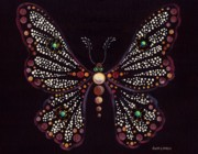 Neutral Colors Originals - Mosaic Butterfly by Anita Carden