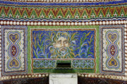 Mosaic Photos - Mosaic Fountain at Getty Villa 3 by Teresa Mucha