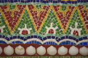 Mosaic Photos - Mosaic Fountain Pattern Detail 4 by Teresa Mucha