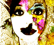 Female Art Mixed Media Print Mixed Media Posters - Mosaic Poster by Jennifer Bodrow