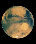 Planet Mars Prints - Mosaic Of Images Showing Mars Southern Hemisphere Print by Us Geological Survey