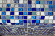 Mosaic Framed Prints - Mosaic tile Framed Print by Tony Cordoza