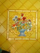 Work Ceramics - Mosaic tile wall by Robin Miklatek