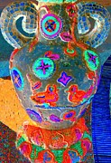 Mosaic Digital Art Prints - Mosaic Urn Print by Randall Weidner