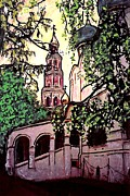 Russia Mixed Media Prints - Moscow Church Print by Sarah Loft