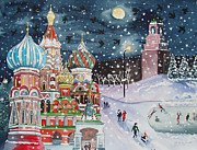 Moscow Paintings - Moscow Fancy by Oksana Shiell