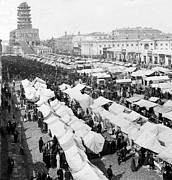Eastern European Prints - Moscow Russia - The Great Sunday Market - c 1898 Print by International  Images