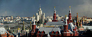 Moscow Photos - Moscow Skyline by Vladimir Zakharov