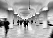 Crowd Scene Art - Moscow Underground by Stylianos Kleanthous