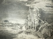 Moses Drawings - Moses At The Red Sea by Rex Stewart