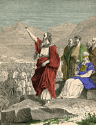 Prophet Moses Posters - Moses, Christian, Hebrew And Muslim Poster by Photo Researchers